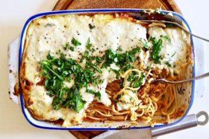 Potrójnie pomidorowe spaghetti